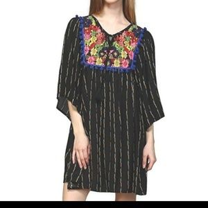 Embroidered Tunic Dress Plus